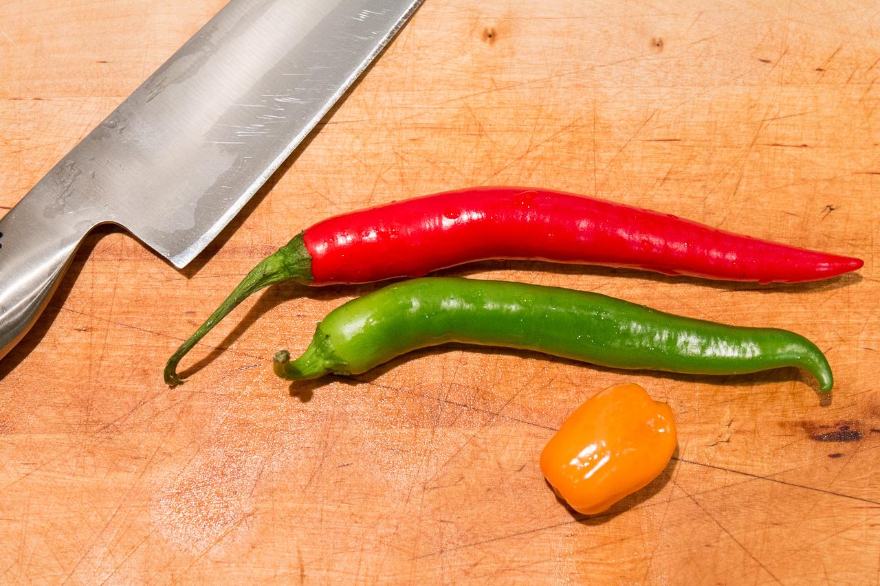 Ett urval av chili