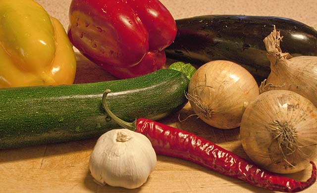 Ingredienser till Bull's ratatouille